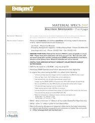 MATERIAL SPECS 2007