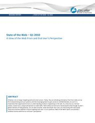 State of the Web – Q1 2010