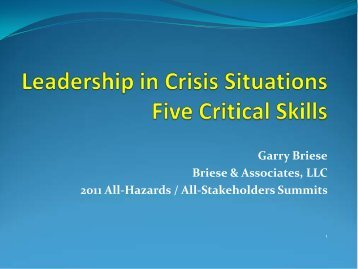 Leadership in Crisis Situations: Five Critical Skills for Success