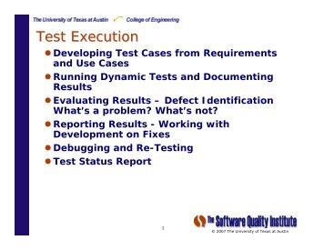 P15 Acceptance - Test Execution
