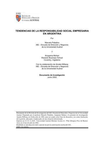 tendencias de la responsabilidad social empresaria en argentina