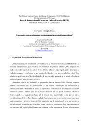 Fourth International Forum on Urban Poverty (IFUP) - del Centro de ...