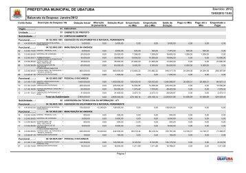 Balancete da Despesa de Janeiro 2012.PDF - Secretaria Municipal ...