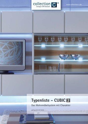 CUBIC 2 Typenliste - Collection C