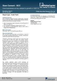 Siam Cement - SCC - Phillip Securities Pte Ltd