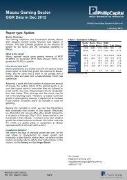 Gaming, 4 Jan - Phillip Securities Pte Ltd