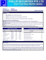 Unit Trust - Phillip Securities Pte Ltd