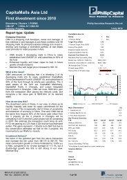 CapitaMalls Asia Ltd - Phillip Securities Pte Ltd