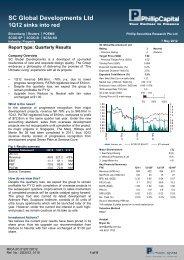 SC Global Developments Ltd – Results (Bryan Go) - Phillip ...
