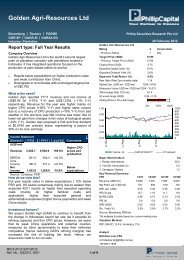 Golden Agri-Resources Ltd – Full Year Results - Phillip Securities ...