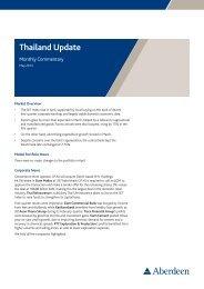 Aberdeen Thailand Update May