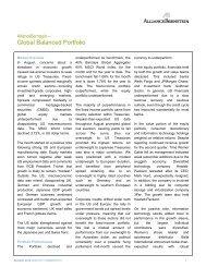 Global Balanced Portfolio