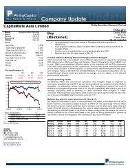 CapitaMalls Asia Limited - Phillip Securities Pte Ltd