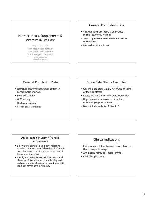 Nutraceuticals, Supplements & Vitamins - Michigan Optometric