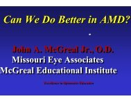 Can We Do Better in AMD? - Michigan Optometric Association