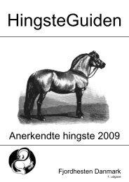 Anerkendte hingste 2009 - Fjordhesten Danmark