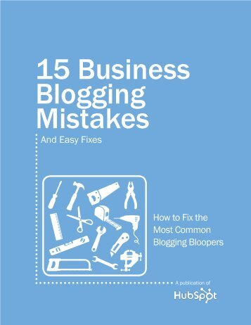 15 Business Blogging Mistakes - Hubspot.net