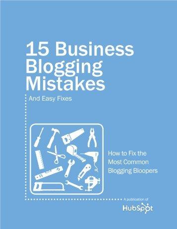 15 Business Blogging Mistakes - Hubspot.net