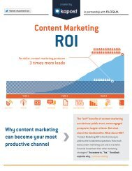 Content Marketing ROI - The Content Marketeer - Kapost
