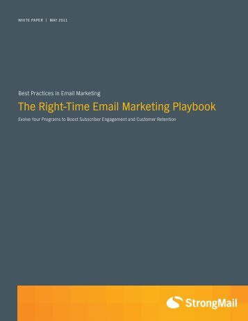 The Right-Time Email Marketing Playbook - Prisa Digital