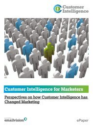Customer Intelligence for Marketers - Magento