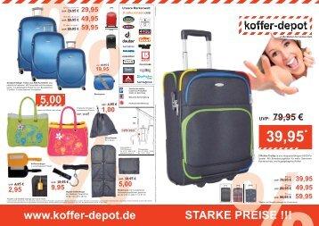 Prospekt Pfullingen als Download - koffer-depot.de - Koffer   Trolley