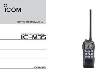 IC-M35 Manual - Icom UK