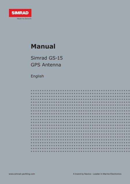 GS15 GPS Antenna Installation Manual - Simrad Yachting