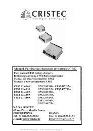 Manuel d'utilisation chargeurs de batteries CPS2 - Busse Yachtshop