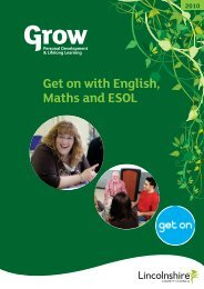 Get On With English, Maths And ESOL - Lincolnshire Family ...