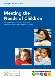 Meeting the needs of children - Booklet LSCB - Lincolnshire Family ...