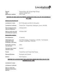 CA-7-1-305 - Lincolnshire County Council