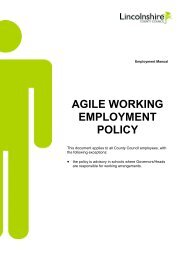 Agile Working Employment Policy - Lincolnshire Family Services ...