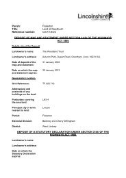 Land at Reedbush - CA71402 - Lincolnshire County Council