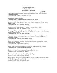 Adobe PDF - Lincolnshire Archives - Bibliography - Cycling