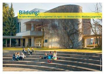 Flyer Begleitprogramm - Museum Langenthal
