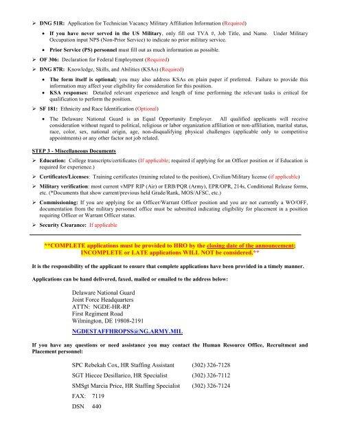 DNG 51R: Application