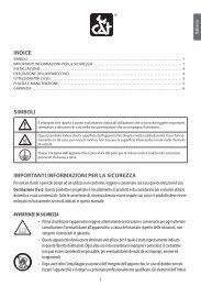 IMPORTANTI INFORMAZIONI PER LA SICUREZZA SIMBOLI INDICE