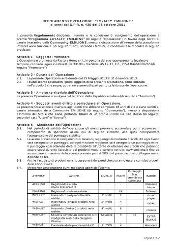 130517_Regolamento Emilione - E-milione E-milione