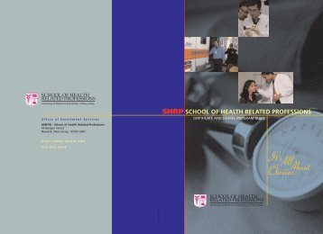 shrp school of health related professions