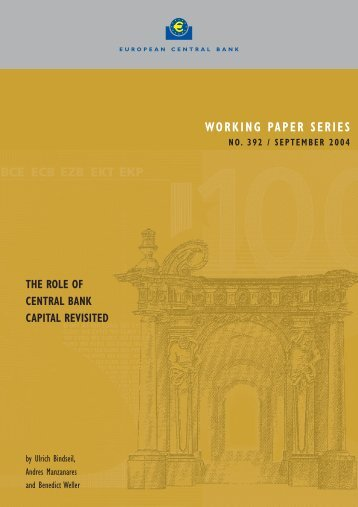 The role of central bank capital revisited - European Central Bank