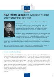 Paul–Henri Spaak: en europeisk visionär och ... - Europa