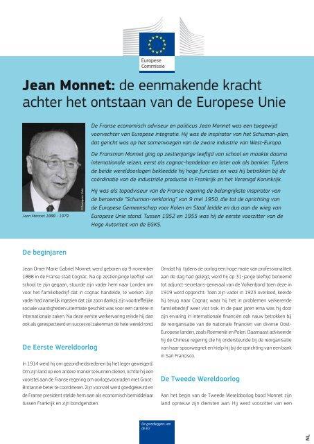 Jean Monnet: de eenmakende kracht achter het ontstaan ... - Europa