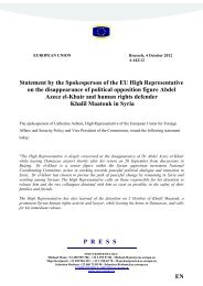 PRESSE Statement by the Spokesperson of the EU High ... - Europa