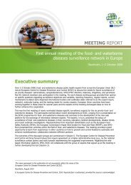 Executive summary MEETING REPORT - European Centre for ...