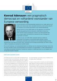Konrad Adenauer: een pragmatisch democraat en ... - Europa