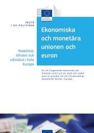 Stabilitet, tillväxt och välstånd i hela Europa