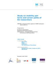 Integrated Information System on European Researchers