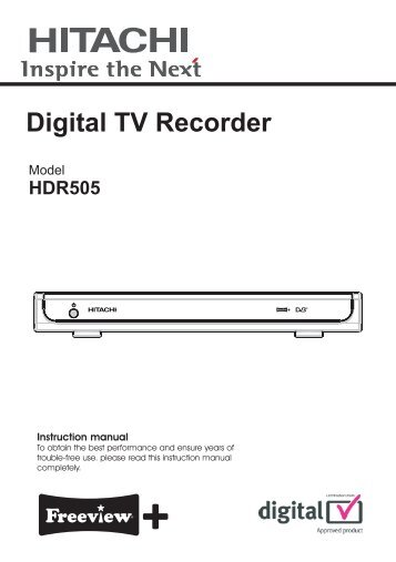 HDR505 Digital TV Recorder - Find help