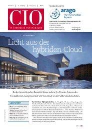 Licht aus der hybriden Cloud - arago - The Automation Experts